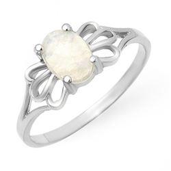 0.65 CTW Opal Ring 10K White Gold - REF-12K2W - 12330