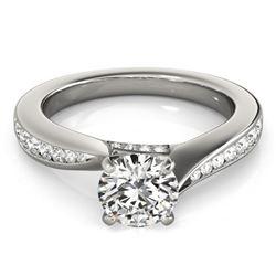 1.11 CTW Certified VS/SI Diamond Solitaire Ring 18K White Gold - REF-211K8W - 27564