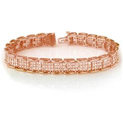 7.0 CTW Certified VS/SI Diamond Bracelet 14K Rose Gold - REF-420X8T - 14079