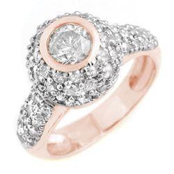 2.20 CTW Certified VS/SI Diamond Ring 18K Rose Gold - REF-195X3T - 13360