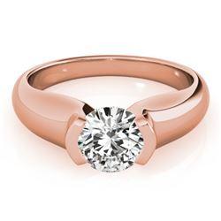 1 CTW Certified VS/SI Diamond Solitaire Wedding Ring 18K Rose Gold - REF-331K4W - 27805