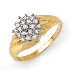 0.25 CTW Certified VS/SI Diamond Ring 10K Yellow Gold - REF-27K5W - 13848