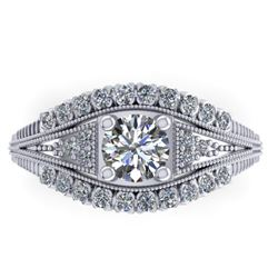 1.50 CTW Solitaire Certified VS/SI Diamond Ring 14K White Gold - REF-232A2X - 38547