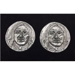 Pair of Joe Beeler/ Eddie Basha Medallions