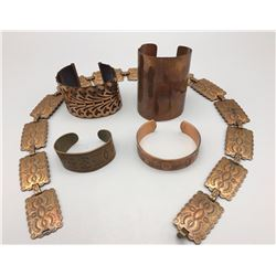 Group of Copper Items