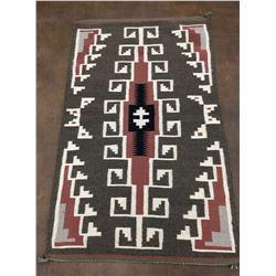 Nice, Vintage Navajo Textile With Geometric Pattern