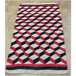 Unique Optical Illusion Navajo Textile