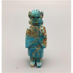 Carved Turquoise Fetish - Zuni