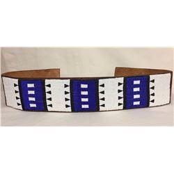 Apache Beaded Leather Belt
