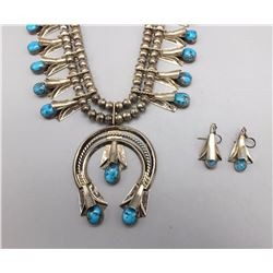 Squash Blossom Necklace and Earring Set (Featured on WTPTV)