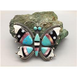 Federico Jimenez Inlay Butterfly Pin