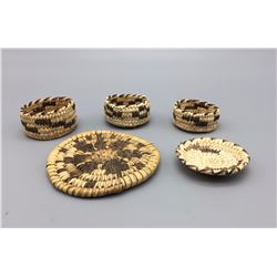 Group of 5 Miniature Baskets
