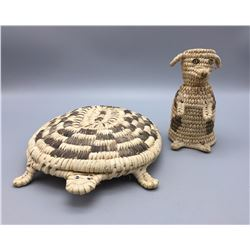 Turtle and Dog Baskets