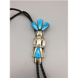 Sterling and Turquoise Kachina Bolo