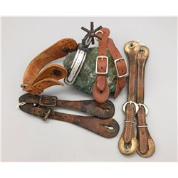 Group of Spur Straps and Mexican Spur