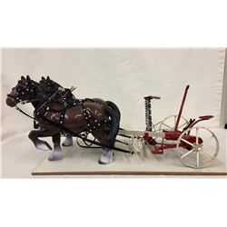 Highly Detailed Mower and Bryers Horses