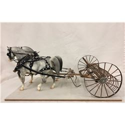 Highly Detailed Buck Rake and Bryers Horses
