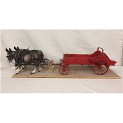 Highly Detailed Manure Spreader and Bryers Mules