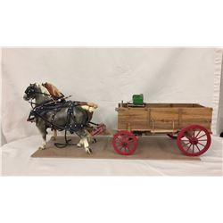 Detailed Wagon with Bryers Horses