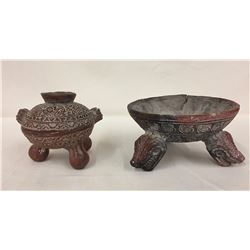 2 Pre-Columbian Style Mexican Pots