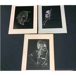 Group of 3 Sammy Sandoval Etchings