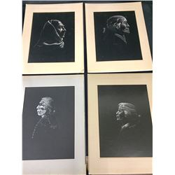 Group of 4 Sammy Sandoval Etchings