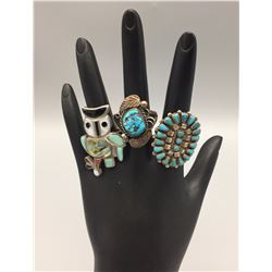 Group of 3 Vintage Rings
