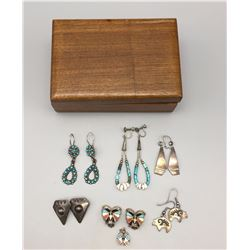 6 Pair of Earrings and a Pendant