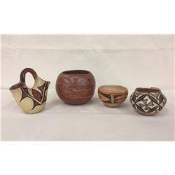 Group of 4 Pueblo Pots