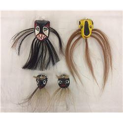 Group of 4 Mini Yaqui Masks