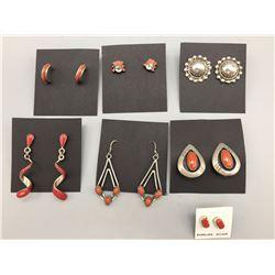 Group of 7 Pair of Earrings