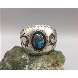 Large Overlay Bracelet with Nice Stone