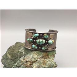 Vintage 7-Stone Turquoise Bracelet