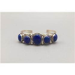 5 Stone Lapis Bracelet
