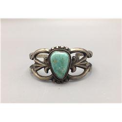 Turquoise Sandcast Bracelet