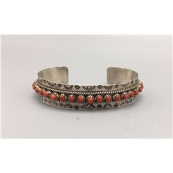 Zuni, Sterling and Coral Bracelet