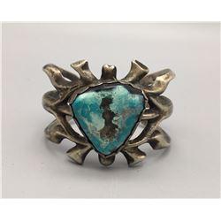 Turquoise, Sandcast Bracelet