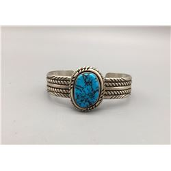 Sterling Silver and Turquoise Bracelet - Signed