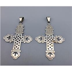 2 Sterling Silver Cross Pendants