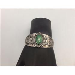 Fred Harvey Era Bracelet, Turquoise Stone