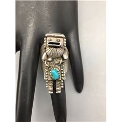 Turquoise and Sterling, Kachina Ring