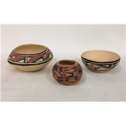 3 Hopi Pottery Bowls