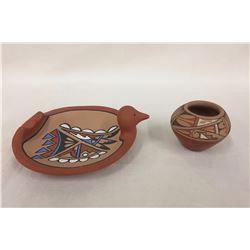 2 Jemez Pottery Items