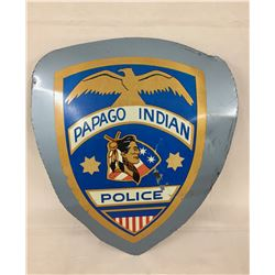Papago Indian Police Car Door Sign