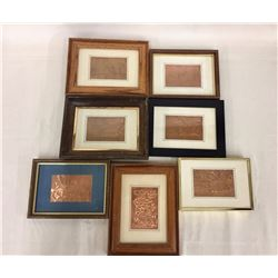 7 Framed Copper Signs