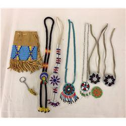 Beaded Necklace, Bolo, Hair Ties, Etc.
