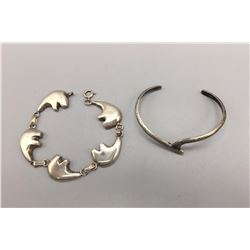 2 Sterling Silver Bracelets