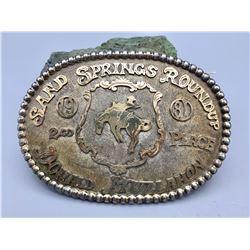 Sterling Silver and Gold Filled Trophy Belt Buckle