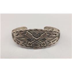 Fred Harvey Style Sterling Bracelet