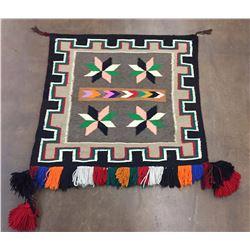 Colorful Vinatge Navajo Saddleblanket